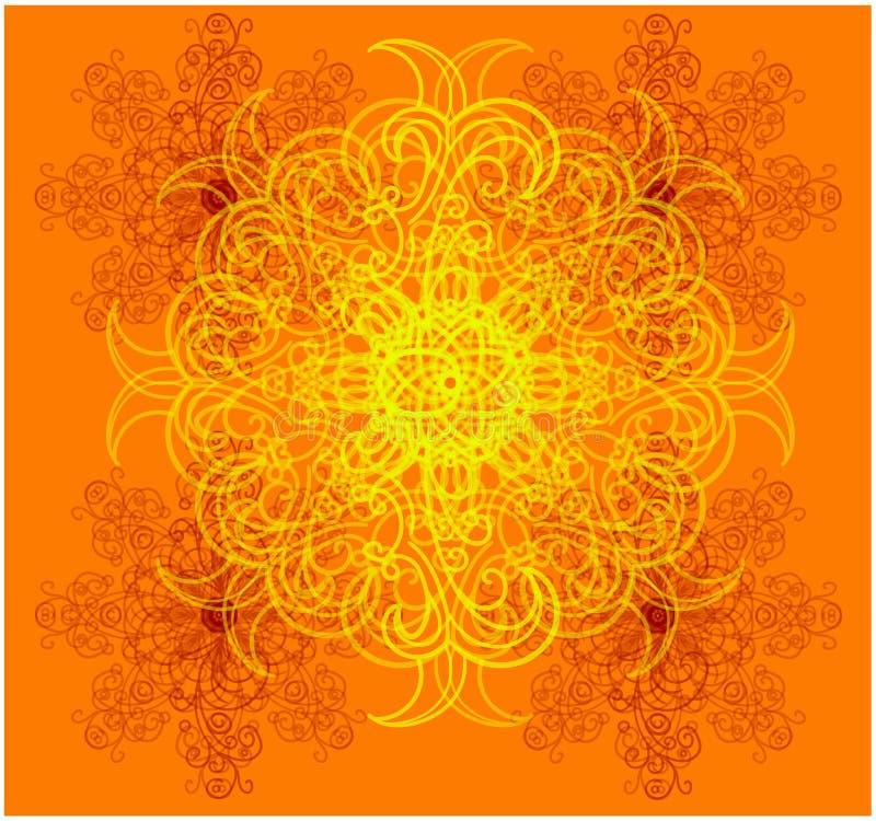 El modelo abstracto está en el centro de la composición ilustración del vector