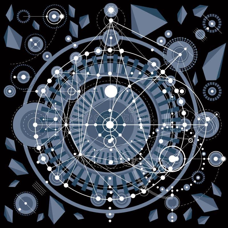 El modelo arquitectónico, vector el fondo digital con differen libre illustration