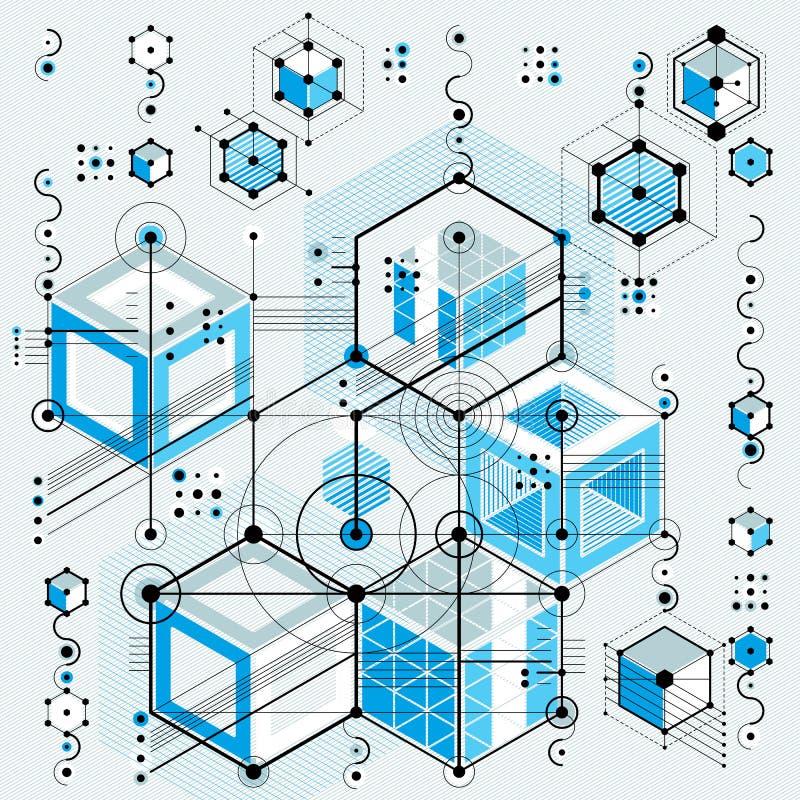 El modelo arquitectónico, vector el fondo digital con differen stock de ilustración