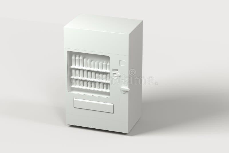 El modelo blanco de la máquina expendedora con el fondo blanco, representación 3d libre illustration