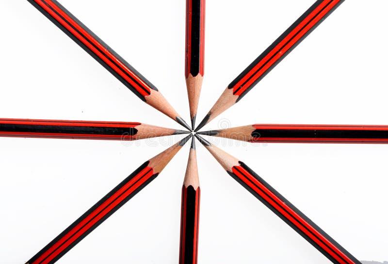 El modelo británico de la bandera se compone de lápices fotos de archivo libres de regalías