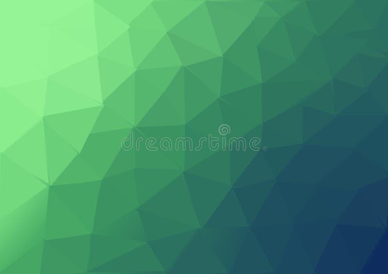 El modelo coloreado verde del backgroun del triangel ilustración del vector