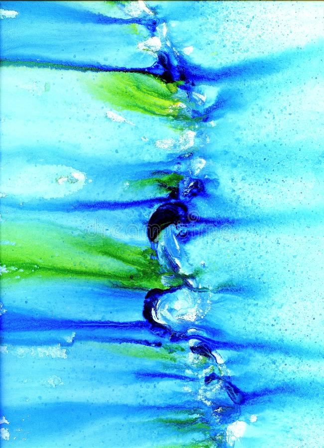 El modelo de acrílico de la raya con azul y blanco agita fotografía de archivo