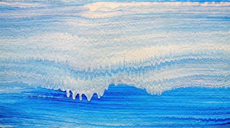 El modelo de acrílico de la raya con azul y blanco agita stock de ilustración
