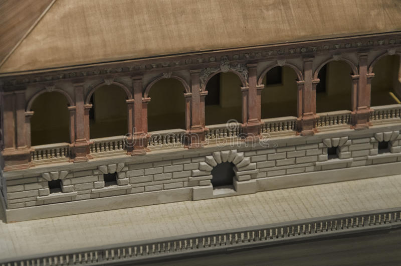 El modelo de escala del dei Vescovi del chalet fotos de archivo libres de regalías