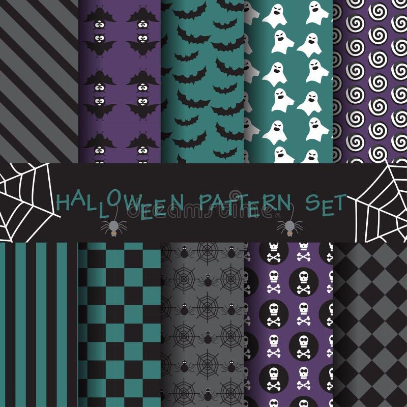 El modelo de Halloween fijó 13 stock de ilustración