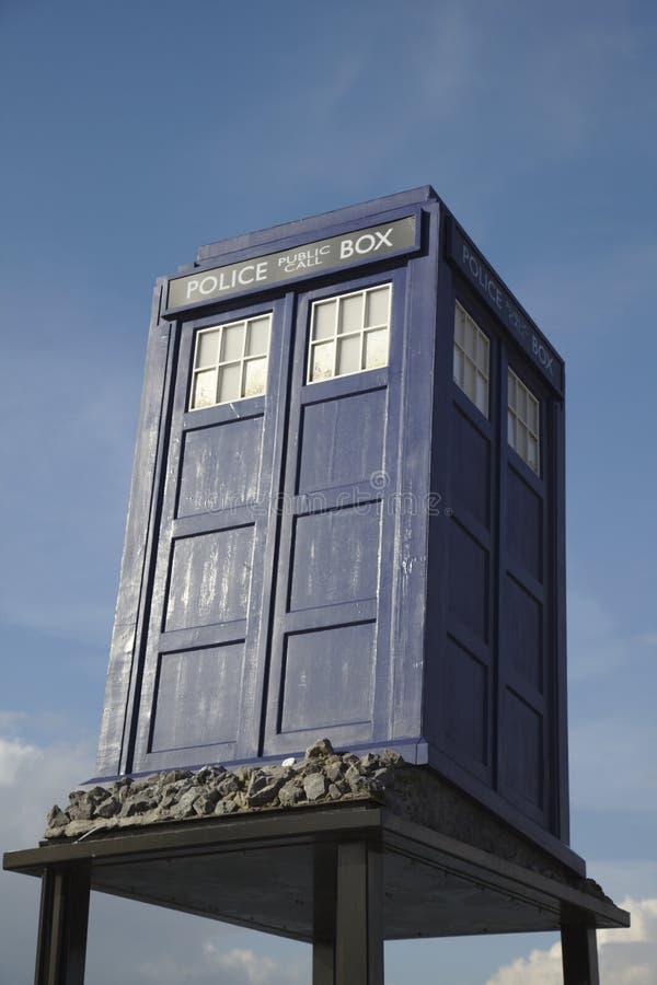 El doctor Who de caja de policía imagen de archivo libre de regalías