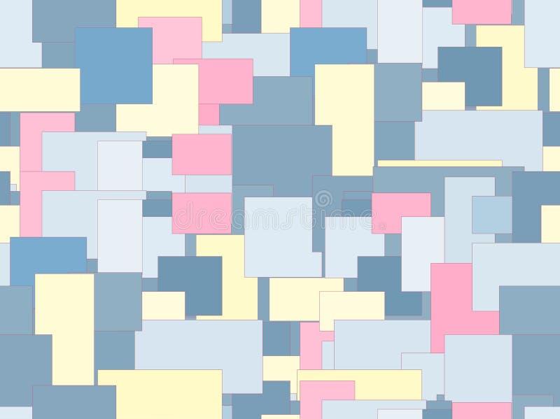 El modelo es inconsútil, extracto de cuadrados y rectángulos en colores claros libre illustration