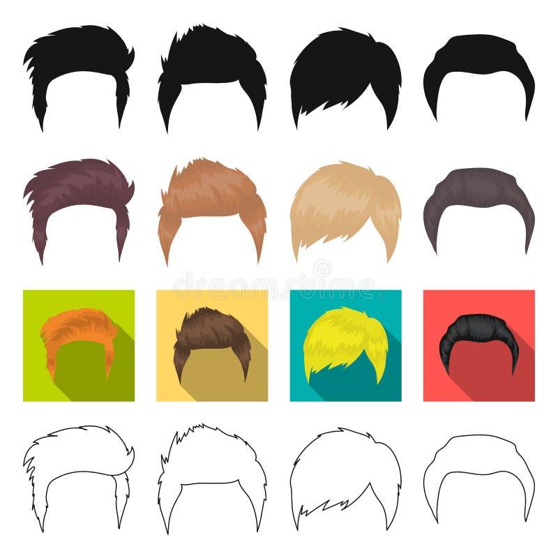 El modelo, el estilo, la peluca y el otro icono del web en diverso estilo teatros, circo, iconos de la comitiva en la colección d libre illustration