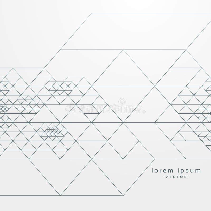 El modelo geométrico abstracto con la travesía alinea el fondo libre illustration