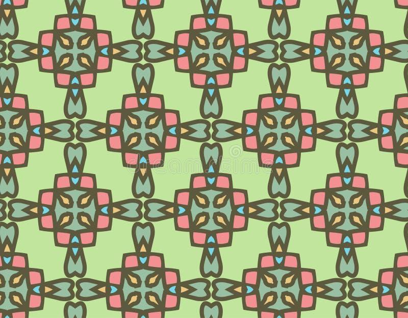 El modelo geométrico abstracto simple, vector inconsútil de formas florales ilustración del vector