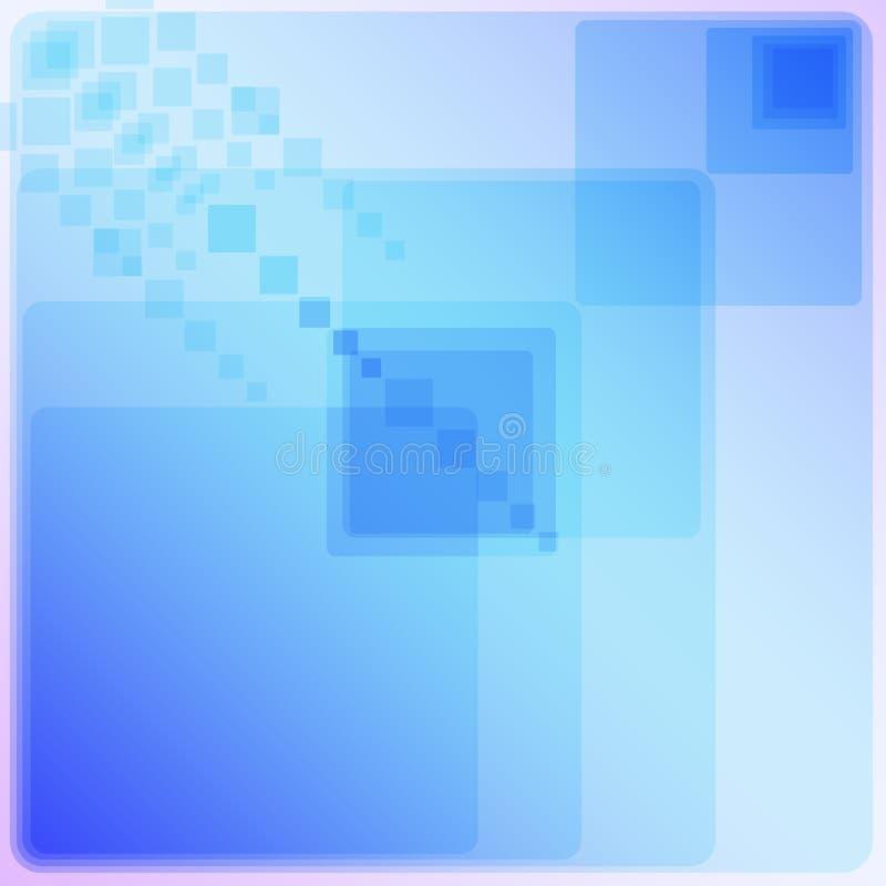 El modelo geométrico blanco y azul ilustración del vector