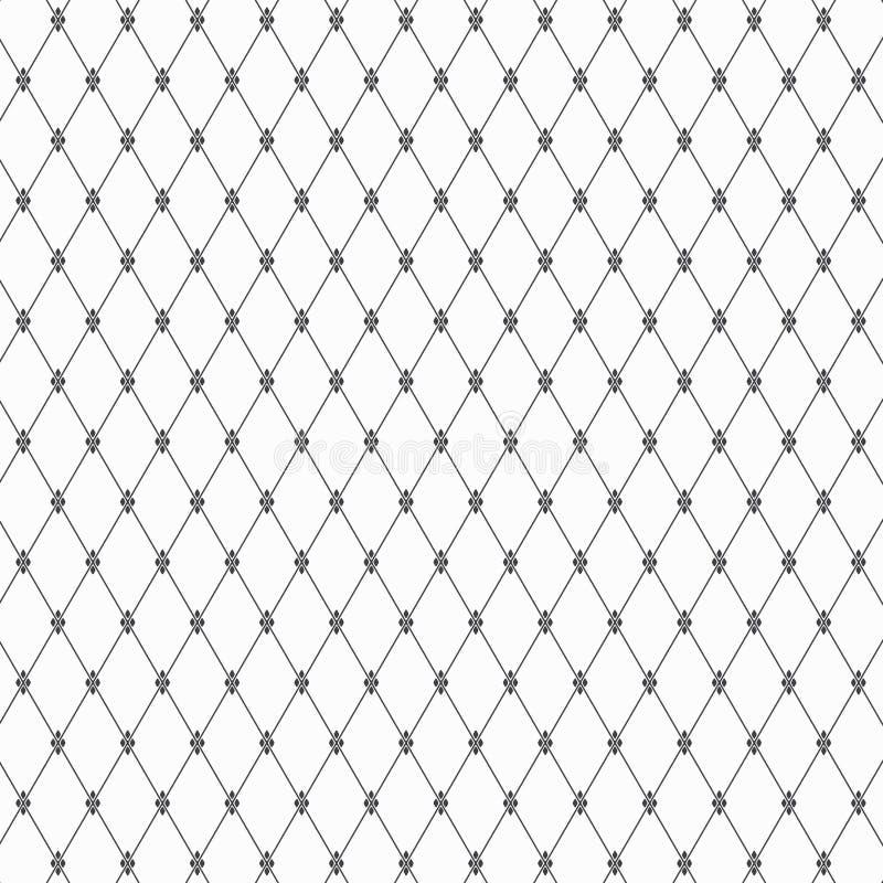 El modelo geométrico de la forma linear del diamante adorna con el estampado de plores abstracto Fondo con estilo abstracto stock de ilustración