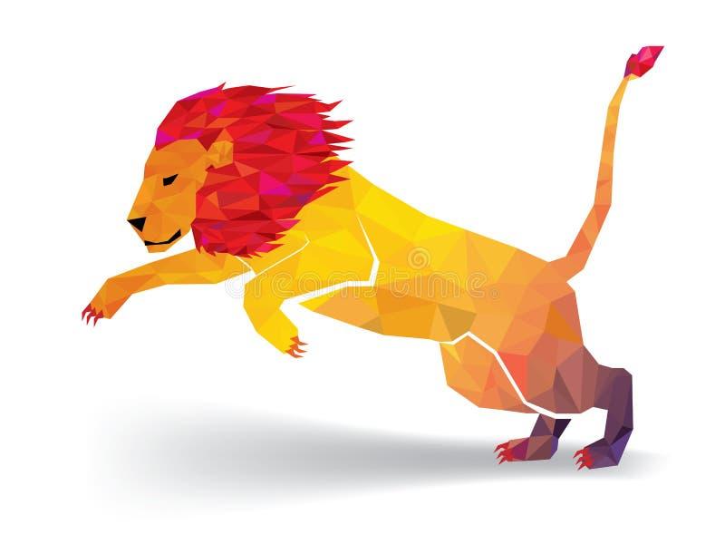 El modelo geométrico del polígono de Lion Low estalla - Vector el ejemplo libre illustration