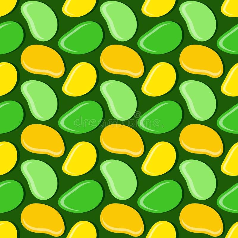 El modelo geométrico inconsútil, mango en estilo plano en fondo verde oscuro, raya la plantilla abstracta, ejemplo del vector ilustración del vector