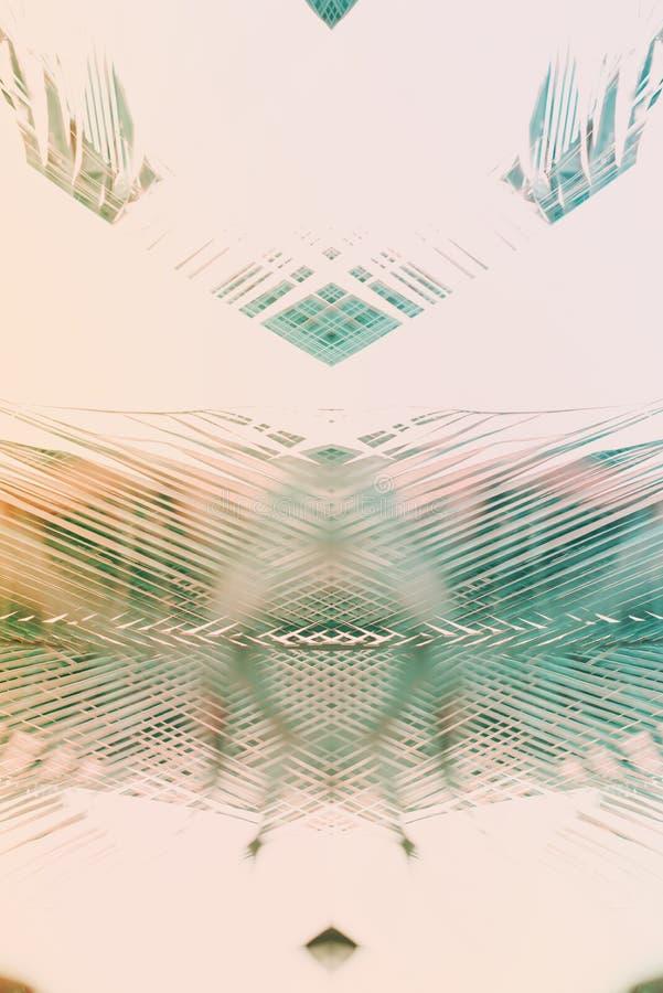 El modelo geométrico natural de la palma del arte de la decoración entonó ilustración del vector