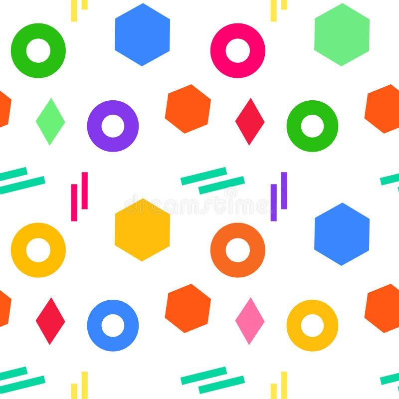 El modelo geométrico para las muchachas, moda de los seamles abstractos viste, materia textil Diseño moderno urbano con los trián stock de ilustración
