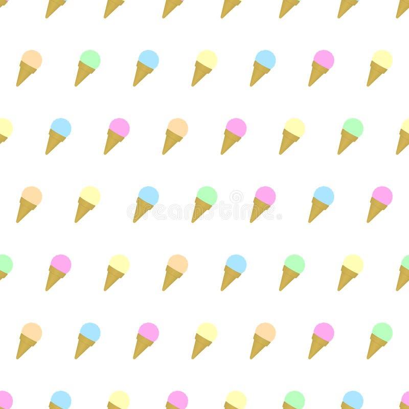 El modelo inconsútil coloreó el fondo del helado con la plantilla en las muestras para su conveniencia Fácil de utilizar stock de ilustración