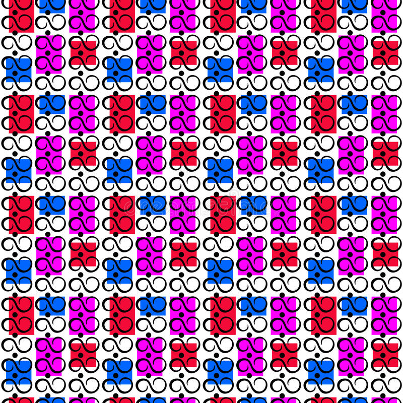 El modelo inconsútil con infinito firma en un fondo multicolor ilustración del vector