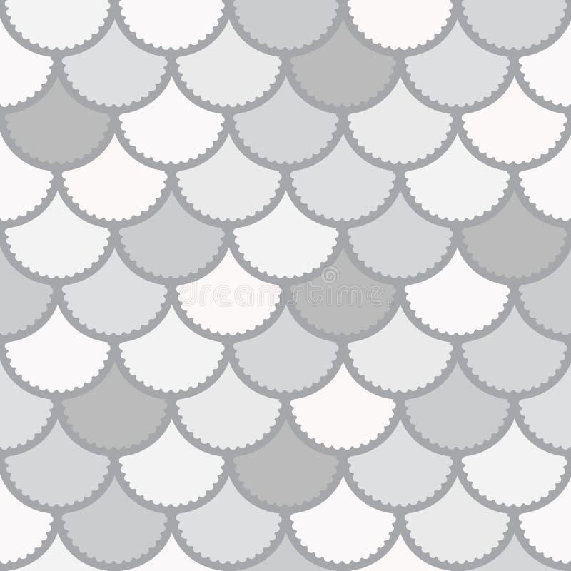 El modelo inconsútil de la sirena del vector como fondo mágico de la escala de pescados para la materia textil, carteles, tarjeta libre illustration