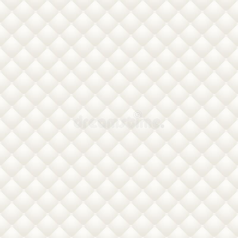 El modelo inconsútil de la trama de la tapicería del cuero blanco, rinde stock de ilustración
