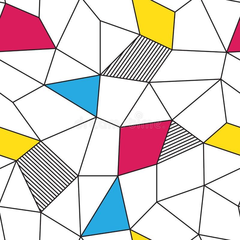 El modelo inconsútil del triángulo del polígono geométrico colorido del extracto aisló el fondo del papel pintado ilustración del vector