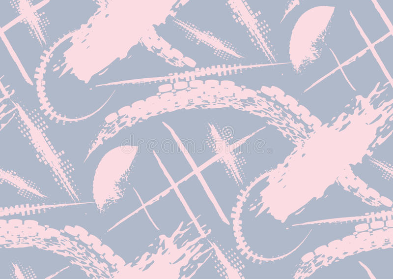 El modelo inconsútil del vector con la mano dibujada texturizó movimientos del cepillo y raya pintado a mano stock de ilustración