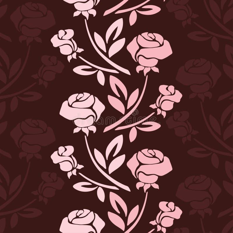 El modelo inconsútil floral con subió en tonos en colores pastel libre illustration
