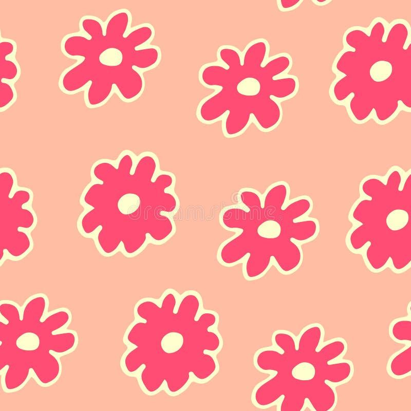 El modelo inconsútil floral hermoso con la mano dibujada florece libre illustration