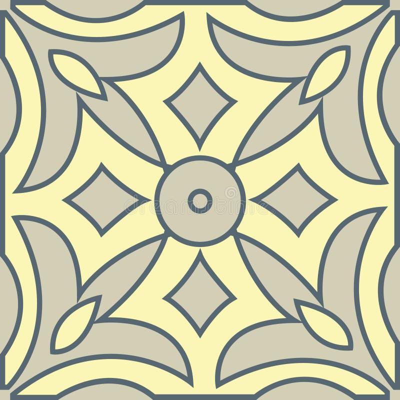 El modelo inconsútil geométrico decorativo del mural marroquí ilustración del vector