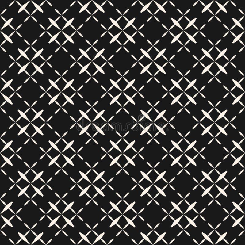 El modelo inconsútil geométrico monocromático abstracto con las cruces, intersección diagonal alinea stock de ilustración