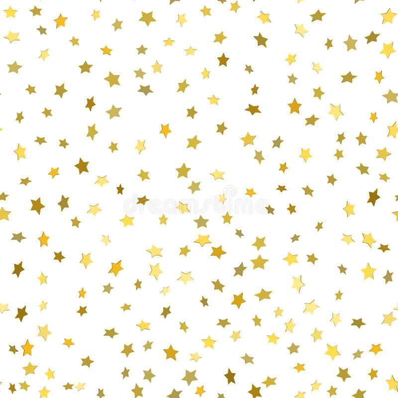 El modelo inconsútil moderno blanco abstracto con oro protagoniza stock de ilustración