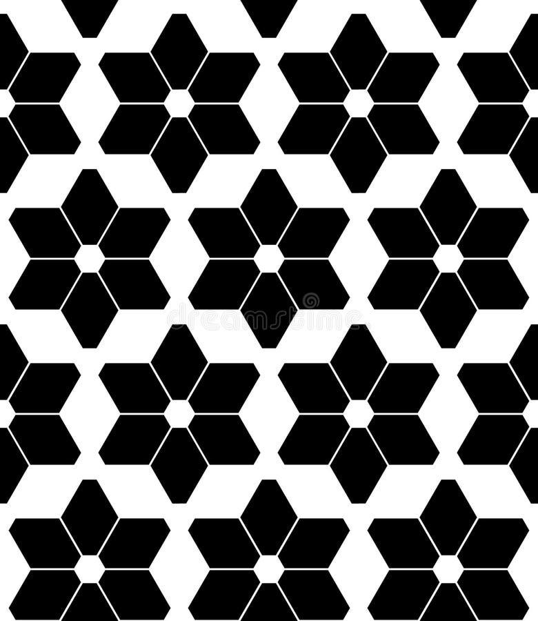 El modelo inconsútil moderno de la geometría del vector protagoniza, extracto blanco y negro ilustración del vector