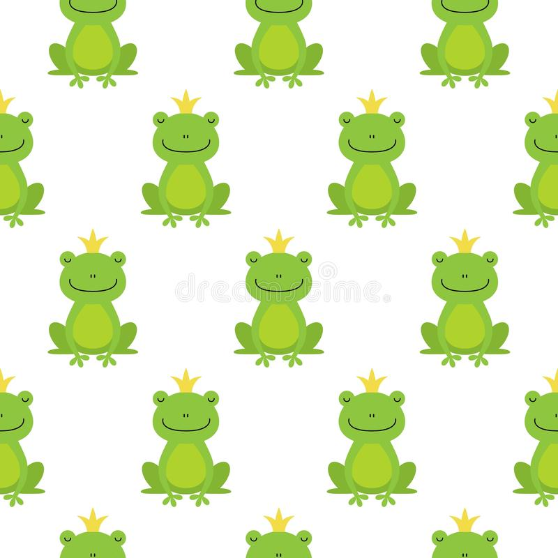 El modelo incons?til con las ranas lindas y las coronas vector el ejemplo libre illustration