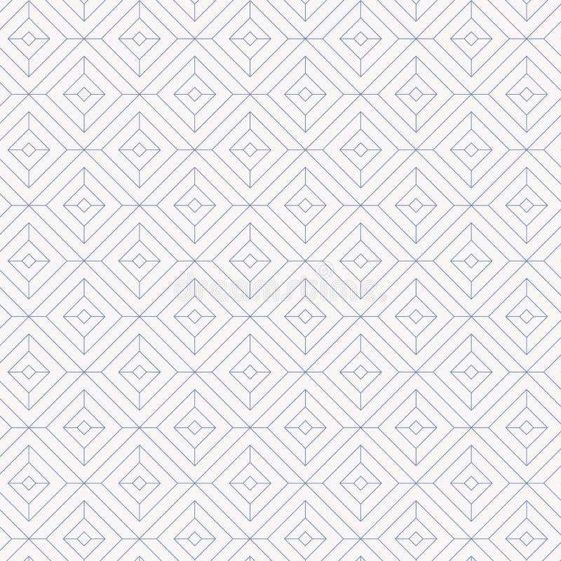 El modelo linear, forma linear del diamante adorna con forma del cuadrado del diamante stock de ilustración