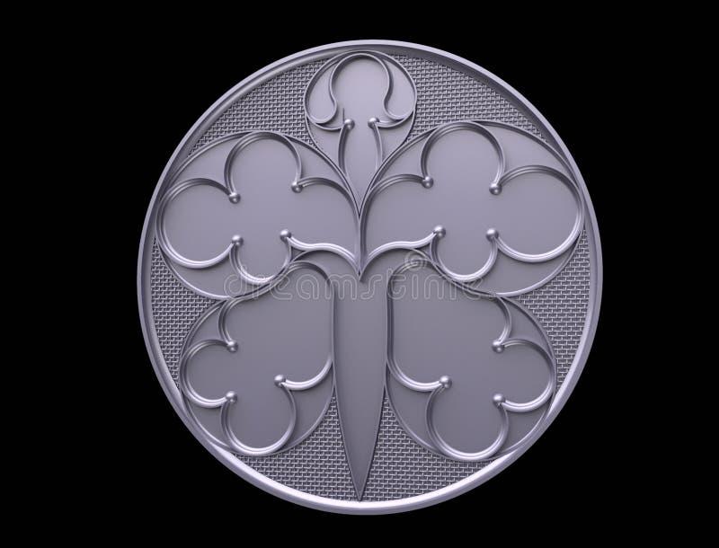 El modelo para la fraseología, logotipo, emblema, negocio, talismán, predicción, futuro, ornamento, negro, de madera, de madera,  ilustración del vector