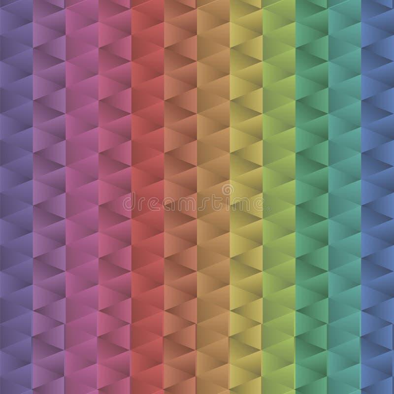 El modelo positivo del triángulo de los mecánicos del metal brillante multicolor iridiscente de la pendiente colorea el mar geomé stock de ilustración