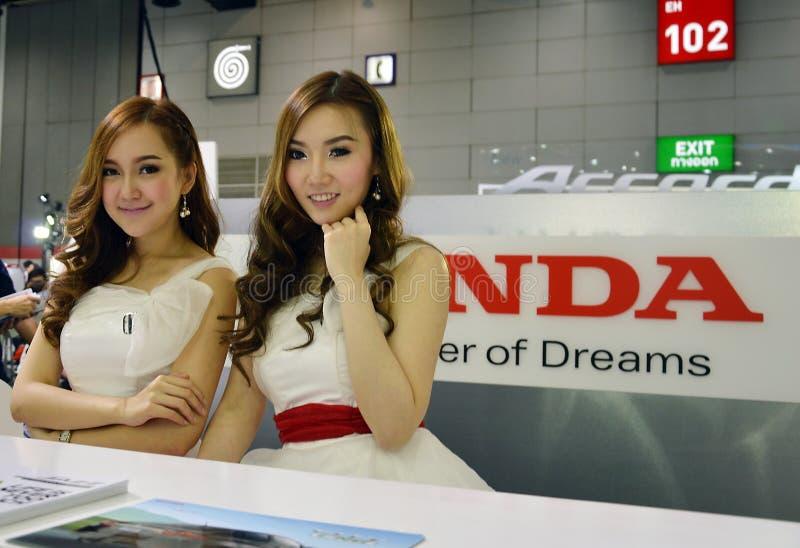 El modelo presentó Honda fotos de archivo libres de regalías