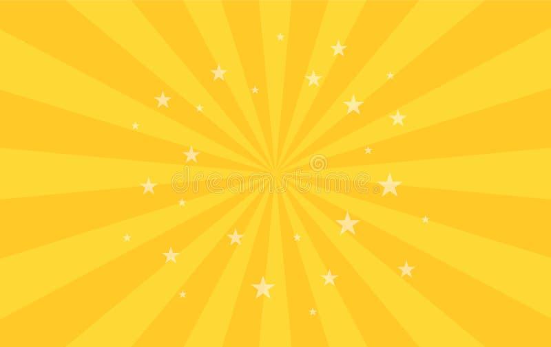 El modelo radial que remolina protagoniza el fondo Cuadrado del giro del espiral del starburst del vórtice Rayos de la rotación d ilustración del vector