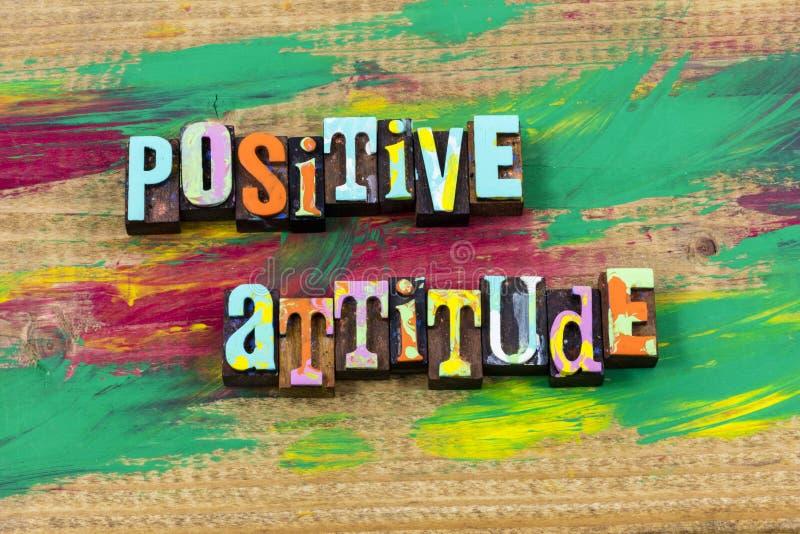 El modo de pensar de la mente de la actitud positiva cree cita de la prensa de copiar del optimismo imágenes de archivo libres de regalías