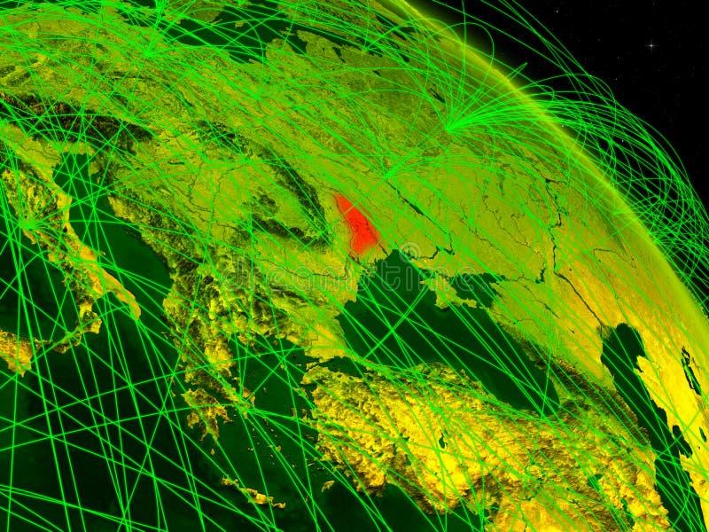 El Moldavia en el globo digital libre illustration