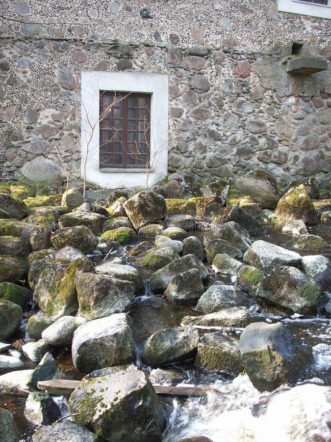 El molino de agua (fragmento). foto de archivo