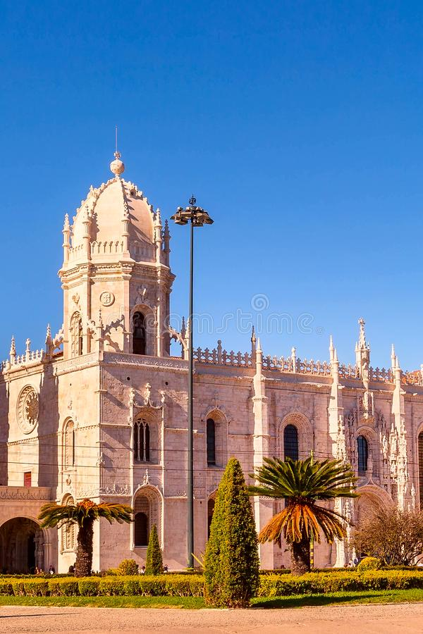 El monasterio de Jeronimos en Lisboa, Portugal fotografía de archivo