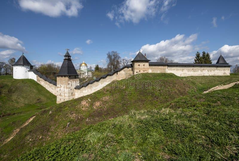 El monasterio de Pskovo-Pechersk imagen de archivo