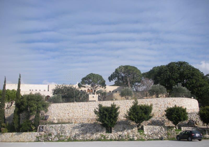 El monasterio de Saint Joseph, tumba del santo Rafqa, Jrabta, Batroun, Líbano fotos de archivo libres de regalías