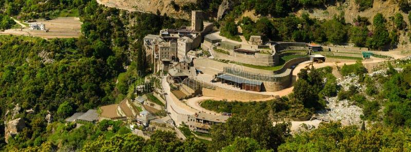 El monasterio de Saint Paul, el monte Athos, Grecia foto de archivo libre de regalías