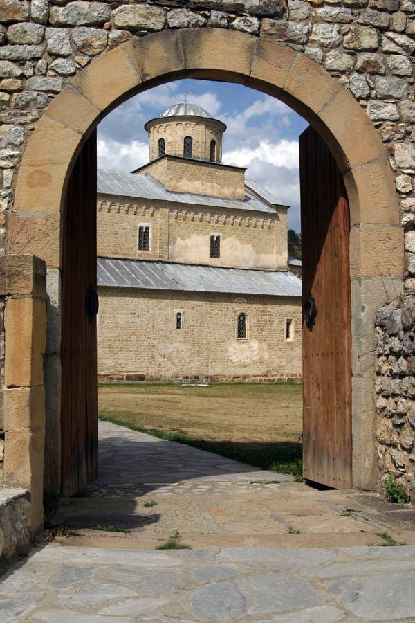 El monasterio de Sopocani fotos de archivo