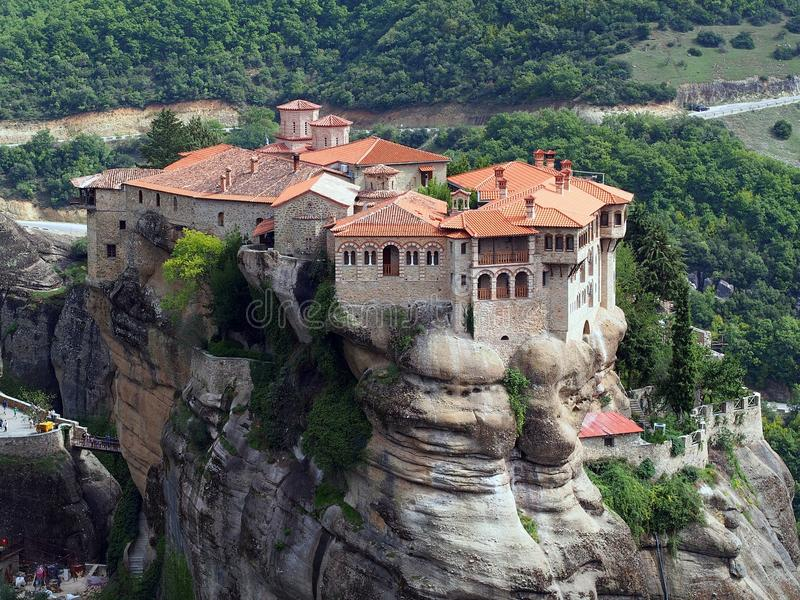 El monasterio de Varlaam, Meteora, Grecia imágenes de archivo libres de regalías