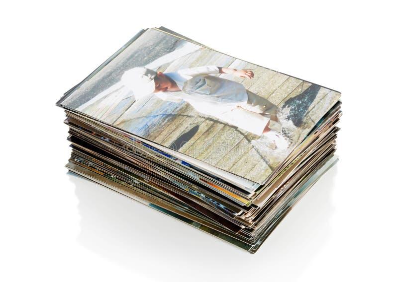 El montón de fotos fotografía de archivo libre de regalías
