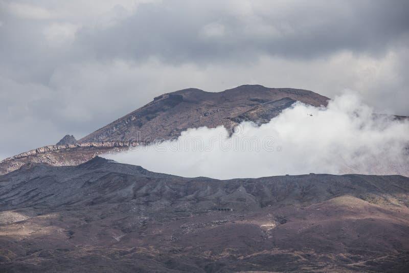 El Monte Aso. Kumamoto. Japón imágenes de archivo libres de regalías